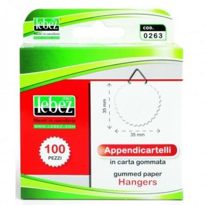 Appendicartelli Adesivi in carta gommata 100 pz -...