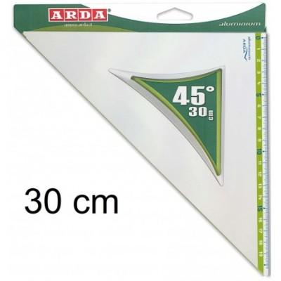 Squadra in Alluminio Arda 30 cm 45°