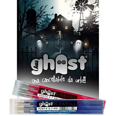 Set 3 Refill o Ricariche Cancellabili Ghost 0,7 Blu