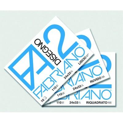 ALBUM DISEGNO FABRIANO 24X33 F2 LISCIO 10FG 110gr