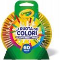 Pennarelli Lavabili Crayola La Ruota dei Colori 60 pz